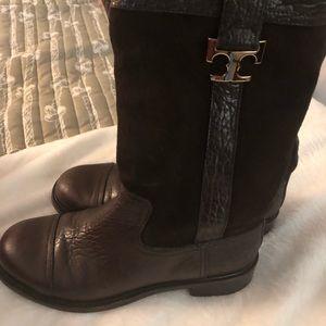 971667f82ae7 Tory Burch Shoes - Tory Burch Corey Mid Calf Coconut Flat Boot